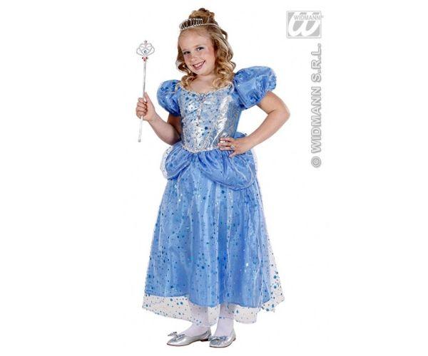dec993a93 Karnevalový kostým Modrá rozprávková Princezná pre deti, veľkosť S ...